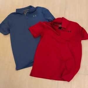 Under Armour Dry Fit Polos bundle of 2